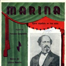 Libretos de ópera: MARINA. Lote 26958302