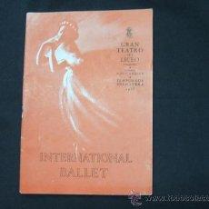 Livrets d'opéra: PROGRAMA GRAN TEATRO DEL LICEO - TEMPORADA PRIMAVERA 1953 - INTERNATIONAL BALLET - . Lote 24431906