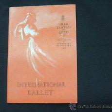Livrets d'opéra: PROGRAMA GRAN TEATRO DEL LICEO - TEMPORADA PRIMAVERA 1953 - INTERNATIONAL BALLET - . Lote 24432008