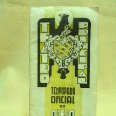 Libretos de ópera: PROGRAMA, TEATRO PRINCIPAL, VALENCIA, TEMPORADA OFICIAL DE OPERA ITALIANA, 1941. Lote 24572619