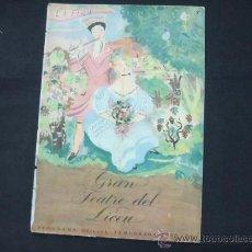 Libretos de ópera: GRAN TEATRE DEL LICEU - PROGRAMA OFICIAL - TEMPORADA 1933 -1934 - LA FIRA DE SOROTXINSKY - . Lote 25044725