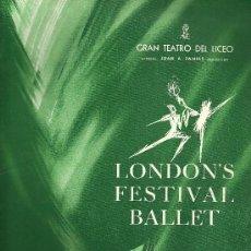 Libretos de ópera: GRAN TEATRO DEL LICEO - LIBRO PROGRAMA - TEMPORADA DE PRIMAVERA - 1964. Lote 25715714