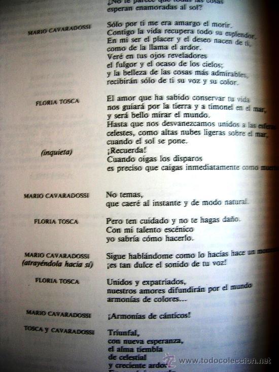 Libretos de ópera: TOSCA - PUCCINI. OPERA FAMOSAS. HISTORIA, CONTENIDO MUSICAL, SINOPSIS Y LIBRETO. - Foto 7 - 29141645
