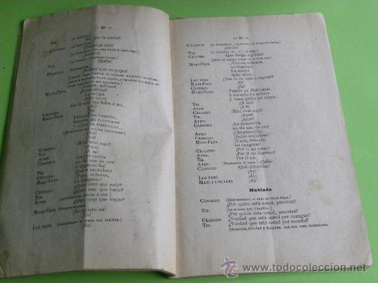 Libretos de ópera: Libreto Zarzuela La Revoltosa J. Lópes Silva C,Fernándes Shaw. Musica Chapi.7ª ed. Madrid 1898 - Foto 4 - 29221025