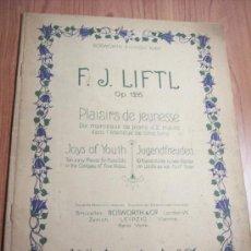 Libretos de ópera: F.J. LIFTL OP. 126 (PLACERES DE JUVENTUD) EN FRANCES-INGLES-ALEMAN. Lote 29613831