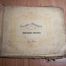 Libretos de ópera: ESCALAS Y ARPEGIOS (HENRI HERZ) BASTATE USADO. Lote 29614079