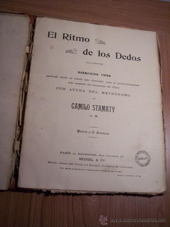 Libretos de ópera: EL RITMO DE LOS DEDOS (EJERCICICOS TIPOS) POR: CAMILO STAMATY - Foto 2 - 29614234