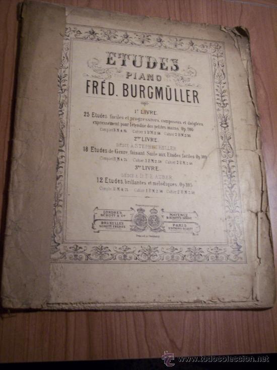 ESTUDIOS PARA PIANO (FRÉD BURGMÚLLER) (Música - Libretos de Opera)