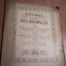 Libretos de ópera: ESTUDIOS PARA PIANO (FRÉD BURGMÚLLER) . Lote 29614474