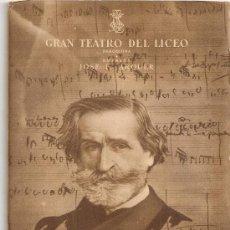 Libretos de ópera: PROGRAMA GRAN TEATRO DEL LICEO. TEMPORADA 1950-51. NABUCCO / G.VERDI. 19X13CM. 36 P.. Lote 29828710