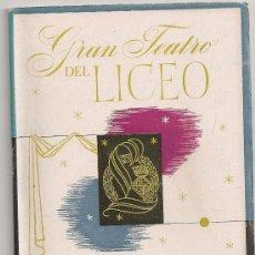 Libretos de ópera: PROGRAMA GRAN TEATRO DEL LICEO. TEMPORADA 1952-53. MADAMA / G.PUCCINI. 19X13CM. 36 P.. Lote 29828801
