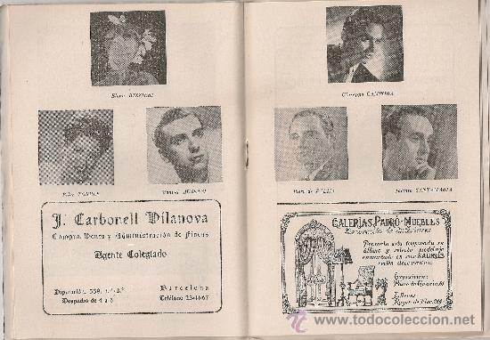 Libretos de ópera: Programa Gran Teatro del Liceo. Temporada 1952-53. Madama / G.Puccini. 19x13cm. 36 p. - Foto 3 - 29828801