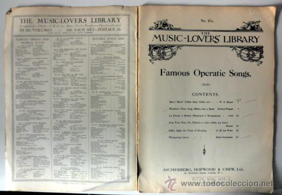 Libretos de ópera: ANTIGUO LIBRETO * THE MUSIC LOVERS LIBRARY famous operatic songs * MADAME LUISA TETRAZZINI - Foto 2 - 30274162