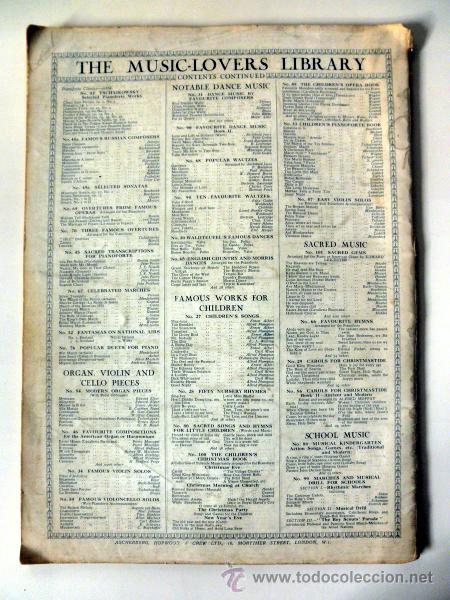 Libretos de ópera: ANTIGUO LIBRETO * THE MUSIC LOVERS LIBRARY famous operatic songs * MADAME LUISA TETRAZZINI - Foto 6 - 30274162