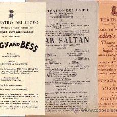 Libretos de ópera: LICEO. 1947 - 1957. TRES PROGRAMAS OPERA Y BALLET. Lote 30514223