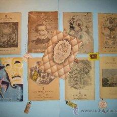 Libretos de ópera: LOTE 9 LIBRETOS OPERA GRAN TEATRO LICEO, TEMPORADA 1947-1948-1949-1950-1951, CON PUBLICIDAD. Lote 31404114