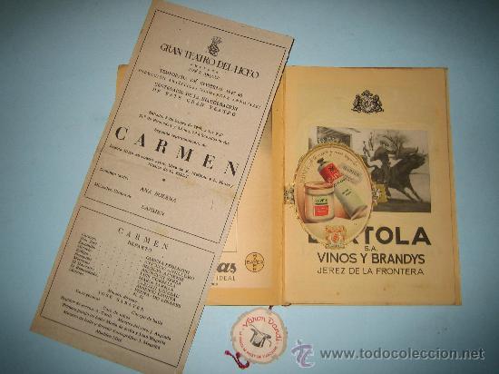 LIBRETO GRAN TEATRO DEL LICEO, TEMPORADA DE INVIERNO 1947-1948, CARMEN (Música - Libretos de Opera)