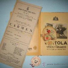 Libretos de ópera: LIBRETO GRAN TEATRO DEL LICEO, TEMPORADA DE INVIERNO 1947-1948, CARMEN. Lote 31404703