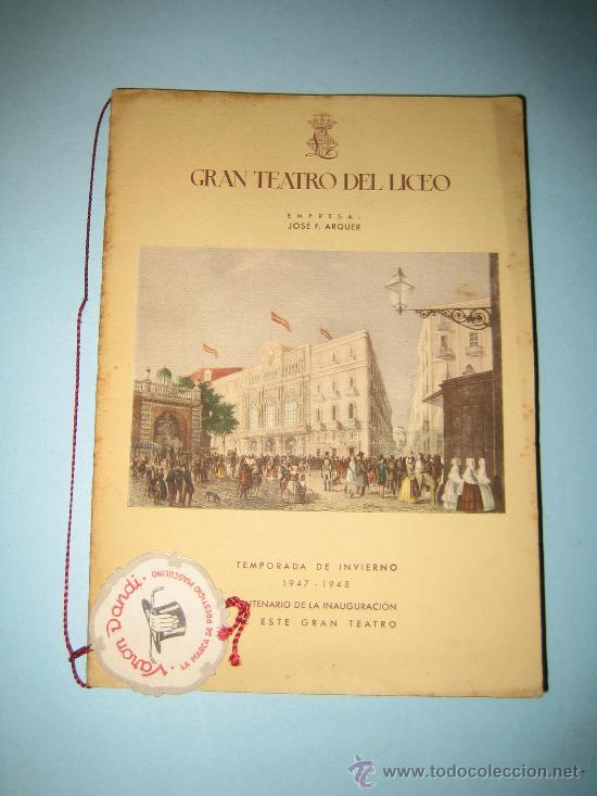 Libretos de ópera: LIBRETO GRAN TEATRO DEL LICEO, TEMPORADA DE INVIERNO 1947-1948, CARMEN - Foto 2 - 31404703