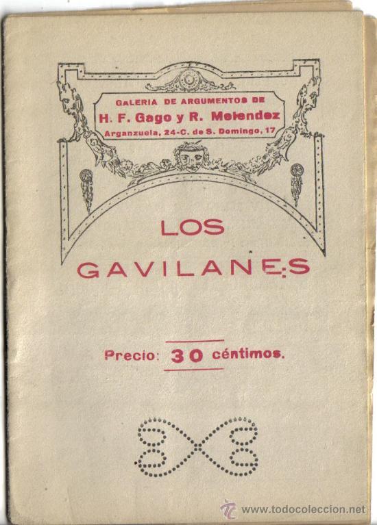 GALERIA DE ARGUMENTOS, LOS GAVILANES, (Música - Libretos de Opera)