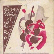 Libretos de ópera: OPERA.G T LICEO.TEMPORADA 1929.FESTIVAL BEETHOVEN. Lote 32802123