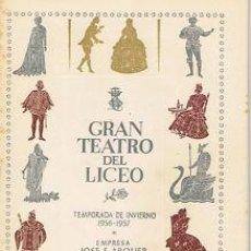Libretos de ópera: OPERA.GT LICEO.TEMP.1956/57.GOYESCAS. E GRANADOS. REPARTO : PEREZ, TORRADO, AUSENSI... . Lote 32870243