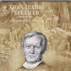 Libretos de ópera: OPERA.GT LICEO.TEMP 1951/52.TZAR SALTAN. RIMSKY - KORSAKOFF . Lote 32872432