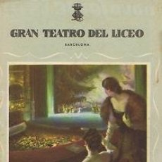 Libretos de ópera: OPERA.GT LICEO.TEMP.1955/56.MADAMA BUTTERFLY 2ª - PUCCINI . Lote 32916573