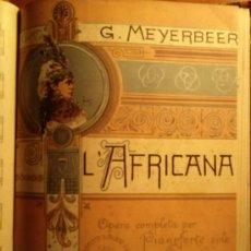 Libretos de ópera: DOS OPERAS: AFRICANA G. MEYERBEER Y DON GIOVANNI DE MOZART.. Lote 33267659