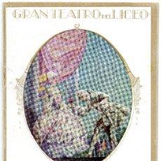 Libretos de ópera: LICEO DE BARCELONA TEMPORADA 1925/26=ANDREA CHENIER=PROGRAMA OFICIAL. Lote 34164030