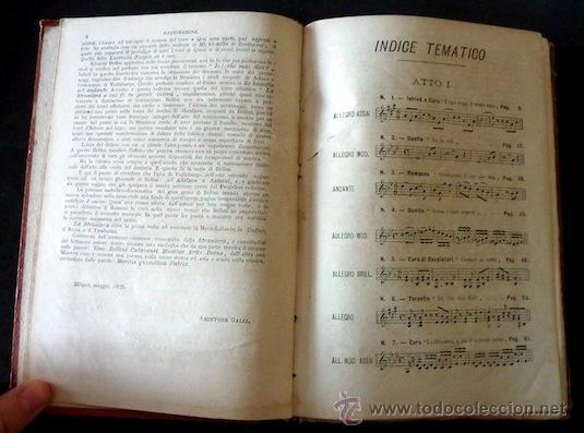 Libretos de ópera: La straniera. Vincenzo Bellini (incluye litografia). Felice Romani. 1875. Introducción A. Galli. - Foto 3 - 35089751