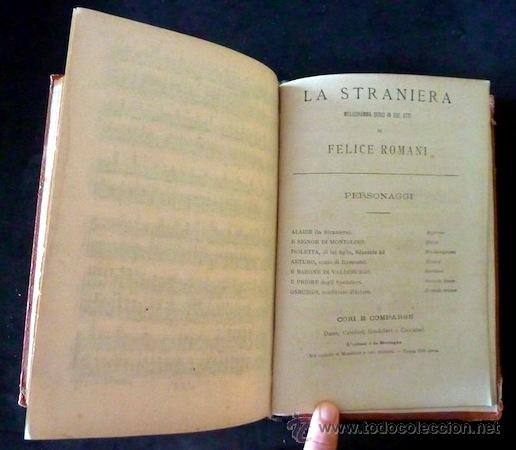 Libretos de ópera: La straniera. Vincenzo Bellini (incluye litografia). Felice Romani. 1875. Introducción A. Galli. - Foto 5 - 35089751