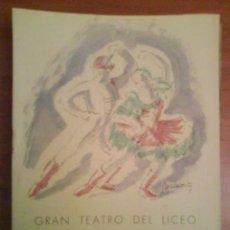 Libretos de ópera: 1942 PROGRAMA DEL LICEO DE BARCELONA. Lote 35558931