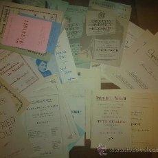 Libretos de ópera: LOTE DE 60 PROGRAMAS: TEATRO ZARZUELA, MONUMENTAL CINEMA, TEATRO ESPAÑOL, ORQUESTA NACIONAL MADRID. Lote 36128486