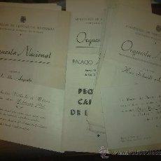 Livrets d'opéra: LOTE DE 31 PROGRAMAS: PALACIO DE LA MUSICA, ORQUESTA NACIONAL, ATENEO MADRID, AÑOS 50. Lote 36130206