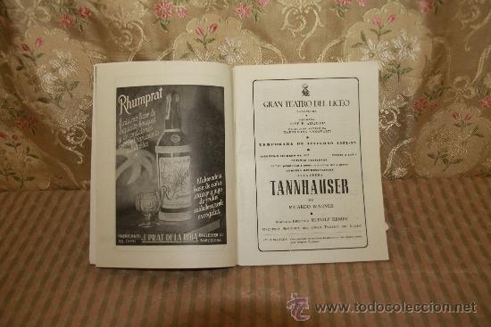 Libretos de ópera: 2786- PROGRAMAS DEL GRAN TEATRO DEL LICEO. LOTE DE 34 EJEMPLARES. VER DESCRIPCION. - Foto 5 - 36379052