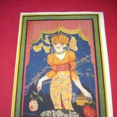 Libretos de ópera: LICEO - 1922-23 - PROGRAMA DEL GRAN TEATRO DEL LICEO. Lote 37852137