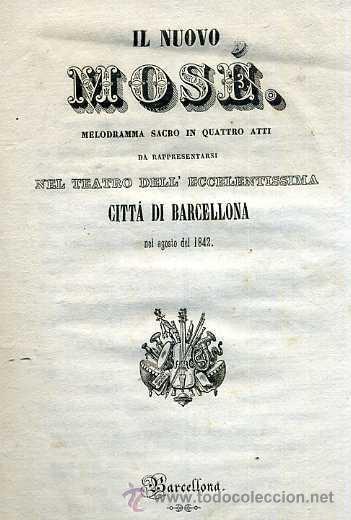 IL NUOVO MOSÉ (1842) (Música - Libretos de Opera)