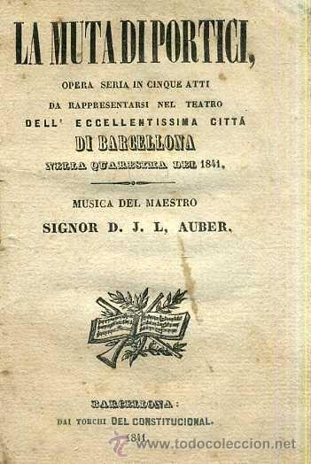 AUBER : LA MUTA DI PORTICI (1841) (Música - Libretos de Opera)
