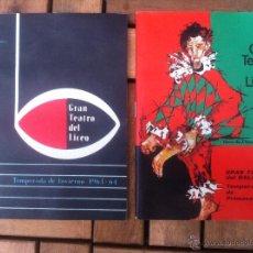 Libretos de ópera: LOTE 2 PROGRAMA DE EL GRAN TEATRO DEL LICEO. TEMPORADAS INVIERNO 1963-64, PRIMAVERA 1967, NUEVOS!!!. Lote 39594991