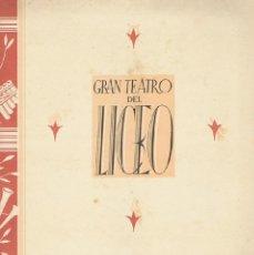 Libretos de ópera: GRAN TEATRO DEL LICEO DE BARCELONA - PROGRAMA OFICIAL 1942 - PARSIFAL. BARCELONA: 1942. 14X20. PROGR. Lote 40633756