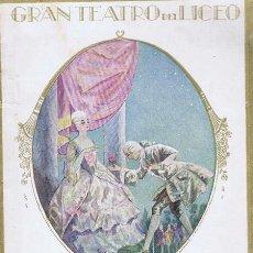 GRAN TEATRO DEL LICEO DE BARCELONA - PROGRAMA OFICIAL TEMPORADA 1925-1926. Barcelona: 1925. 13x21. P