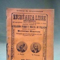 Livrets d'opéra: REVISTA, GALERIA DE ARGUMENTOS, ENSEÑANZA LIBRE, VALLADOLID, AGOSTO 1902. Lote 40777032