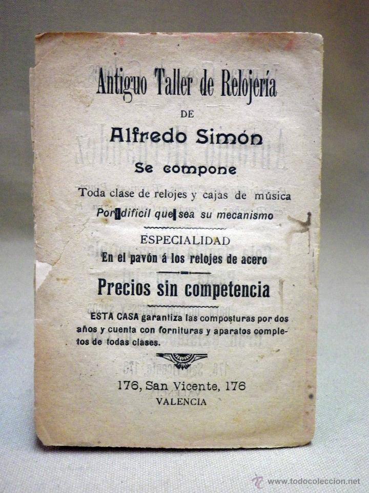 Libretos de ópera: REVISTA, ARGUMENTO, ZARZUELA, EL CUÑADO DE ROSA, CRESPI, VALENCIA, 1900 - Foto 2 - 40777056