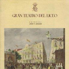 Libretos de ópera: GRAN TEATRO DEL LICEO DE BARCELONA - TEMPORADA DE INVIERNO 1947-1948. BARCELONA: 1947. 13X18.5. PROG. Lote 40783823