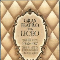Libretos de ópera: PROGRAMA GRAN TEATRO LICEO 14 ENE. 1947 - BORIS GODOUNOFF. Lote 40910605