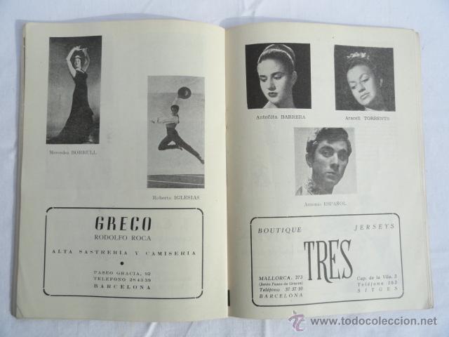 Libretos de ópera: PROGRAMA TEMPORADA INVIERNO 1957 -1958 GRAN TEATRO DEL LICEO. - Foto 3 - 41632423