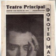 Libretos de ópera: TEATRO PRINCIPAL. LEON. COMPAÑIA DRAMÁTICA DE GRAN ESPECTACULO DOROTEO MARTIN. 1954. LEER. Lote 42234040