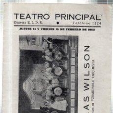 Libretos de ópera: TEATRO PRINCIPAL. LEON. PRESENTACIÓN AL COMPAS DEL MAMBO. BLAS WILSON. 1952. LEER. Lote 42234280