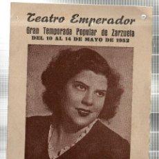 Libretos de ópera: TEATRO EMPERADOR. LEON. ANGELITA VIRUETA. GRAN COMPAÑIA LIRICA. ALADIO CUEVAS. 1952. LEER. Lote 42257721